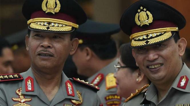 Kapolri Jenderal Idham Azis dan Kabareskrim Komisaris Jenderal Listyo Sigit.