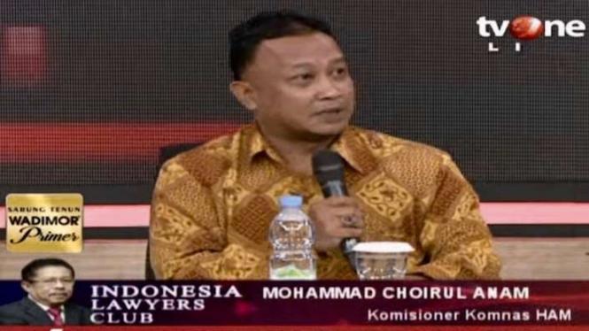 Komisioner Komnas HAM Mohammad Choirul Anam di acara ILC (17/12/2019)
