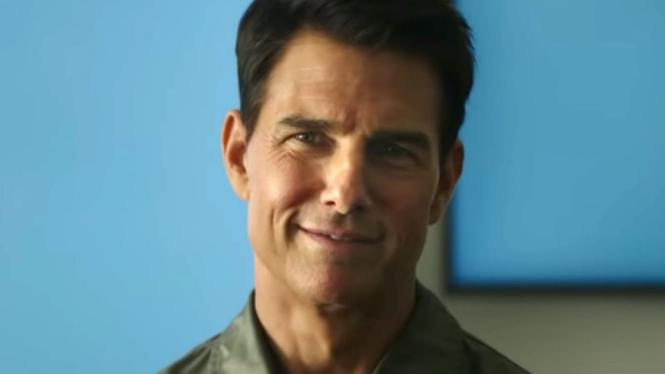 Tom Cruise di Top Gun: Maverick.