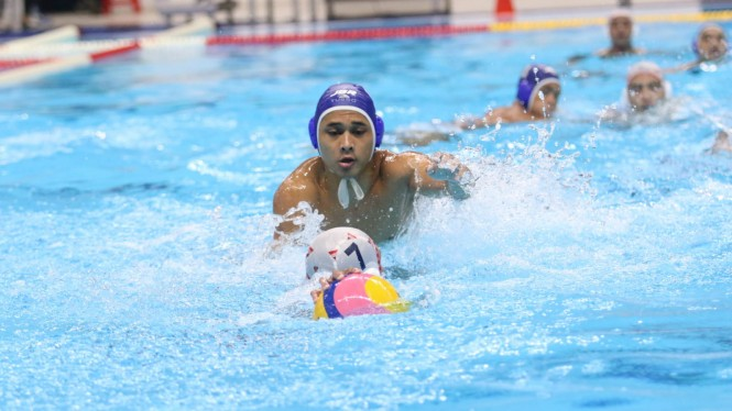 Laga final polo air putra Indonesia Open Aquatic Champonship 2019