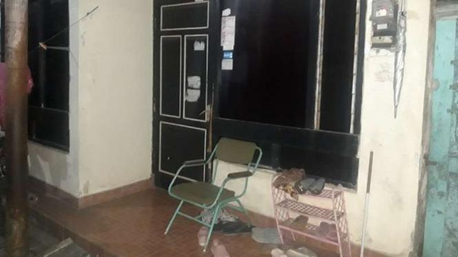 Rumah di Bintaran Kulon yang digeledah Densus 88 Polri, Rabu, 18 Desember 2019.