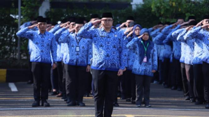 Upacara Hari Bela Negara di Kementerian PAN-RB