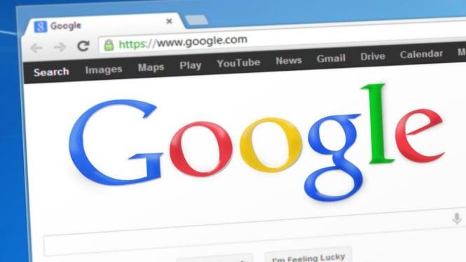 Mesin pencari Google atau Google Search.