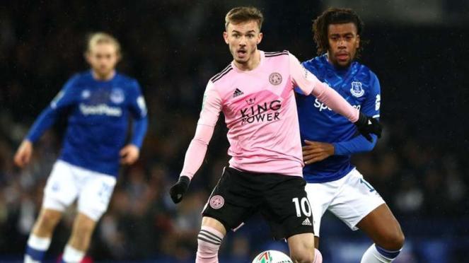Laga perempatfinal Piala Liga Inggris 2019/2020 antara Everton vs Leicester City