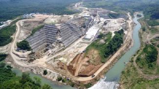 Proyek Bendungan atau Waduk Karian di Rangkasbitung, Banten