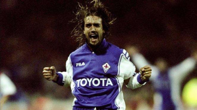 Gabriel Batistuta saat bermain bersama Fiorentina