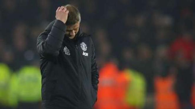 Ekspresi kecewa manajer Manchester United, Ole Gunnar Solskjaer