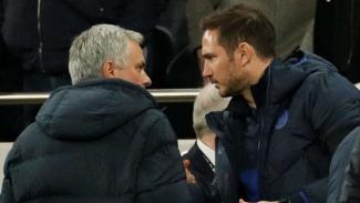 Manajer Tottenham Hotspur, Jose Mourinho, dan manajer Chelsea, Frank Lampard