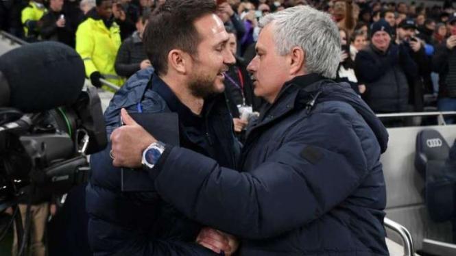 Frank Lampard dan Jose Mourinho.
