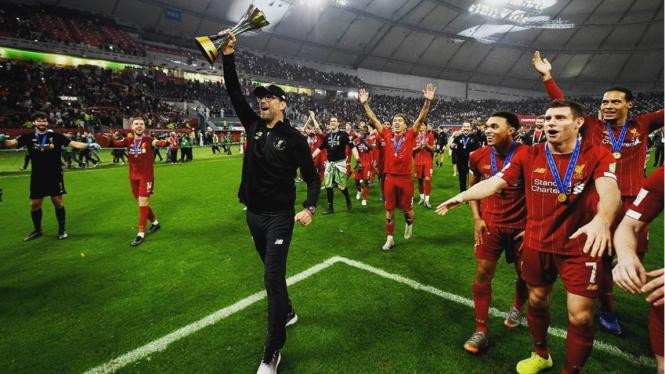 Selebrasi Liverpool rengkuh juara Piala Dunia Antar Klub 2019