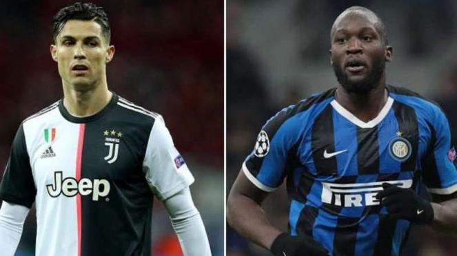 Cristiano Ronaldo dan Romelu Lukaku.