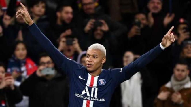 Winger Paris Saint-Germain (PSG), Kylian Mbappe.