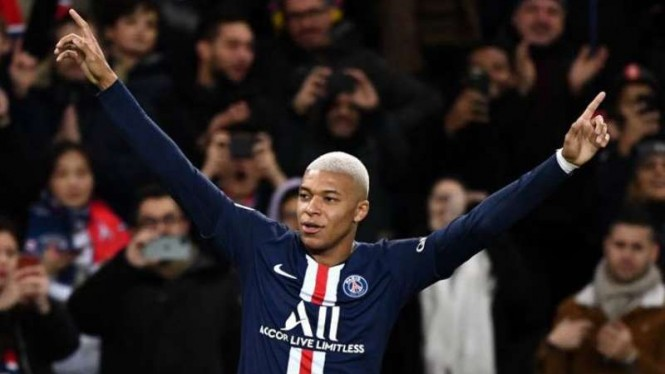 Winger Paris Saint-Germain (PSG), Kylian Mbappe.