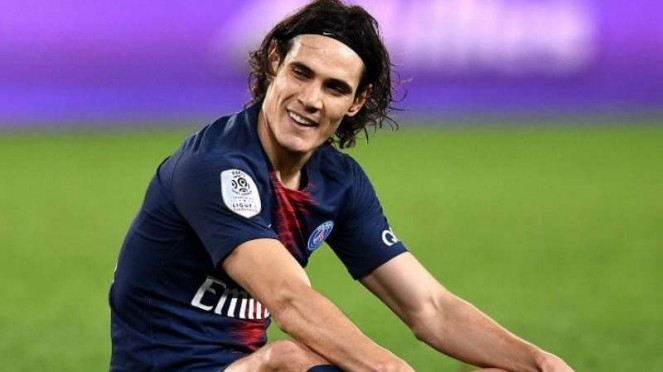 Striker Paris Saint-Germain (PSG), Edinson Cavani.
