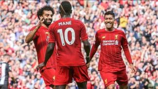Trio penyerang Liverpool, Mohamed Salah, Sadio Mane, dan Roberto Firmino.