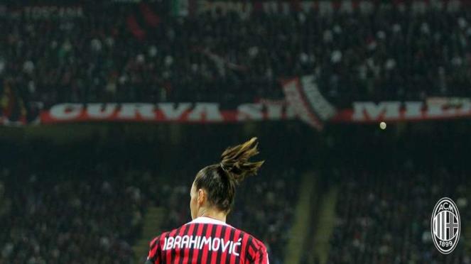 Zlatan Ibrahimovic saat di AC Milan.