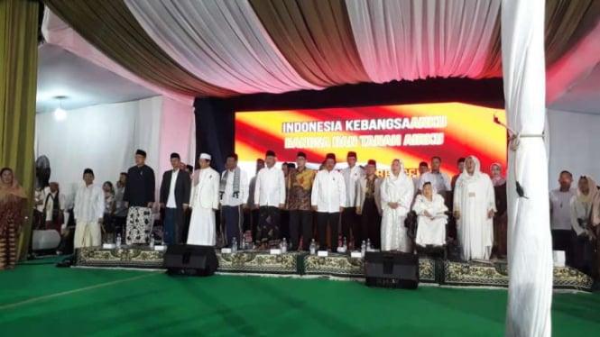 Sejumlah tokoh menghadiri haul atau peringatan sepuluh tahun wafatnya mantan presiden Republik Indonesia, Abdurrahman Wahid alias Gus Dur, di kediamannya, Ciganjur, Jakarta, Sabtu malam, 28 Desember 2019.
