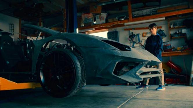 Lamborghini Aventador hasil cetak printer