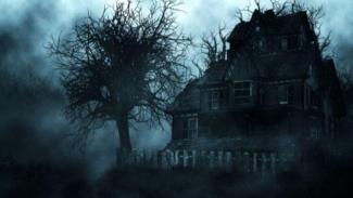 Ilustrasi rumah hantu.