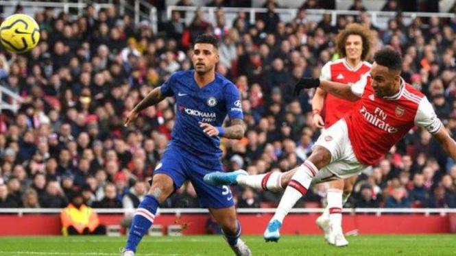 Striker Arsenal, Pierre Emerick-Aubameyang.