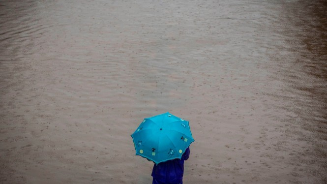 Hujan deras dan banjir melanda Jakarta. (Foto ilustrasi)