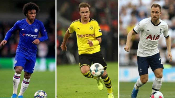 Tiga bintang berstatus gratisan pasca bursa transfer musim dingin 2019/2020.