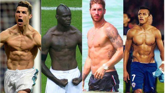 Deretan bintang klub sepakbola top berbodi keren.