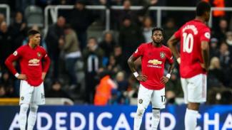 Ekspresi kecewa para pemain Manchester United