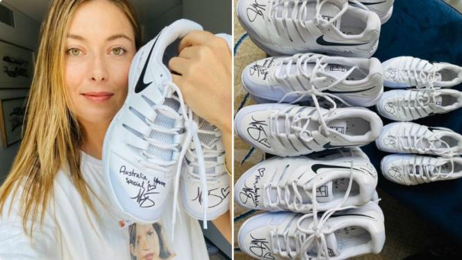 Maria Sharapova melelang sepatunya untuk donasi korban kebakaran hutan Australia.