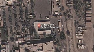 Lokasi Kedubes AS di Baghdad Irak dari foto satelit