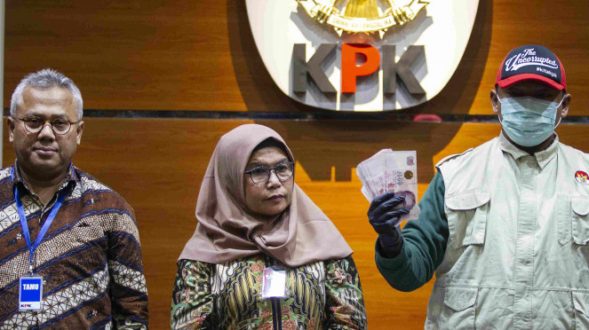 KPK konferensi pers soal operasi tangkap tangan Komisioner KPU Wahyu Setiawan