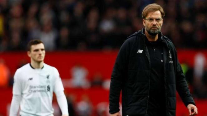 Ekspresi kecewa manajer Liverpool, Juergen Klopp