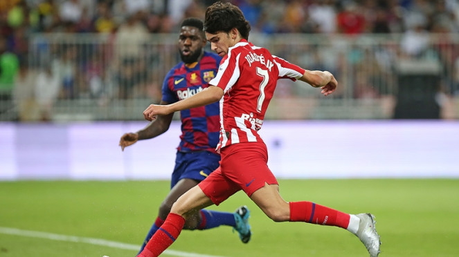Joao Felix saat turun bermain di laga Atletico Madrid vs Barcelona