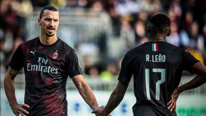 Striker AC Milan, Zlatan Ibrahimovic dan Rafael Leao.