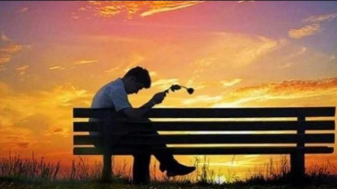 Ilustrasi suami yang sedang sedih