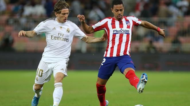 Pertandingan Real Madrid vs Atletico Madrid di Piala Super Spanyol