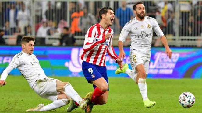 Federico Valverde menekel Alvaro Morata
