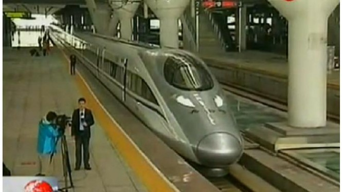 Kereta super cepat China.