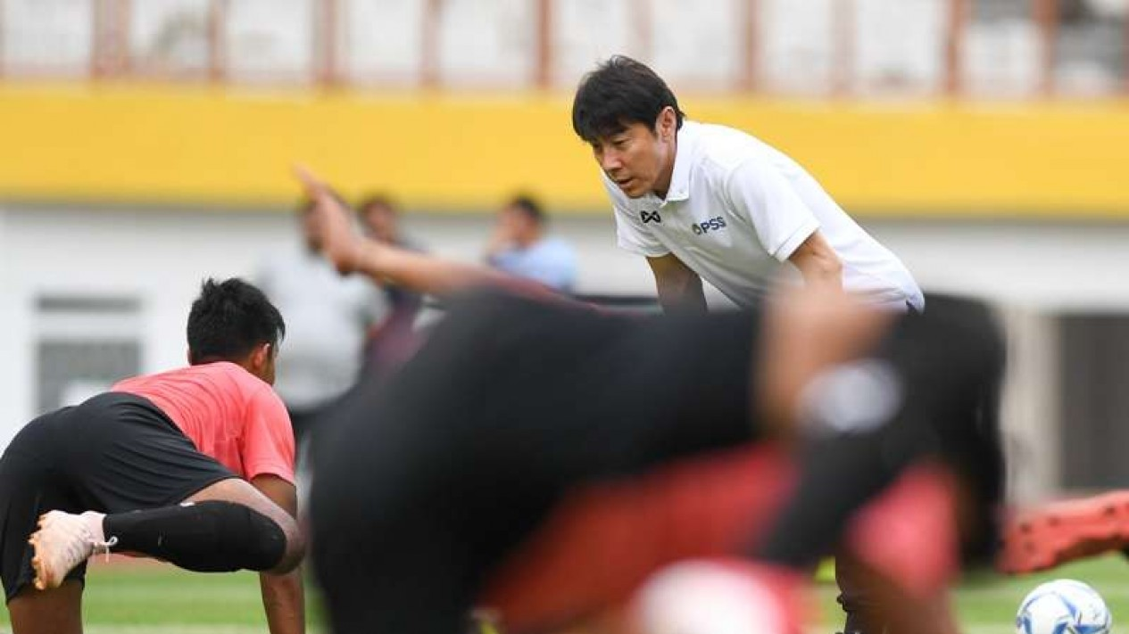 Pelatih Timnas Indonesia, Shin Tae-yong.