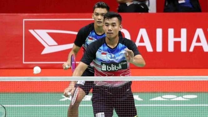 Dihajar Ganda Jerman, Shohibul/Bagas Tersingkir dari Thailand Open