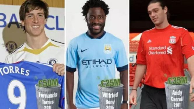 Tiga pemain berlabel transfer buruk saat musim dingin.