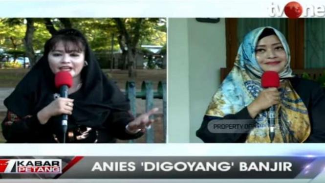 Dewi Tanjung dan Fahira Idris saat dialog di tvOne.