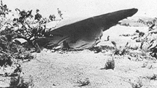 Ilustrasi kecelakaan UFO