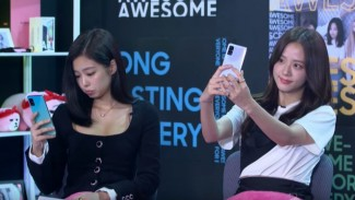 Jennie Blackpink di acara Samsung Indonesia.