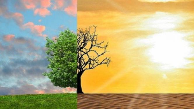 Ilustrasi perubahan iklim.