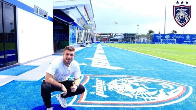 Eks pilar timnas Jerman, Lukas Podolski kunjungi markas Johor Darul Ta'zim (JDT)
