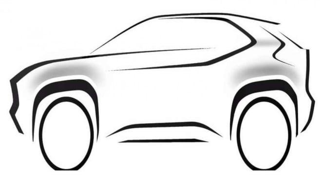 Sketsa yang diduga sebagai mobil baru Toyota