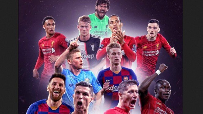 Formasi Champions League Team of the Year 2019