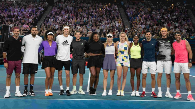 Ajang charity 'Rally4Relief' jelang Grand Slam Australian Open 2020