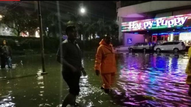 Banjir yang sempat terjadi di Kota Surabaya pada Rabu sore, 15 Januari 2020